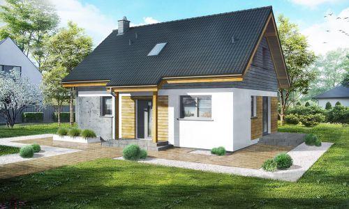 projekt malego domu bez grazu